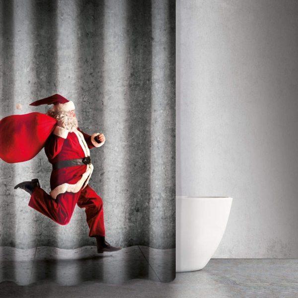 Χριστουγεννιάτικες Κουρτίνες Μπάνιου