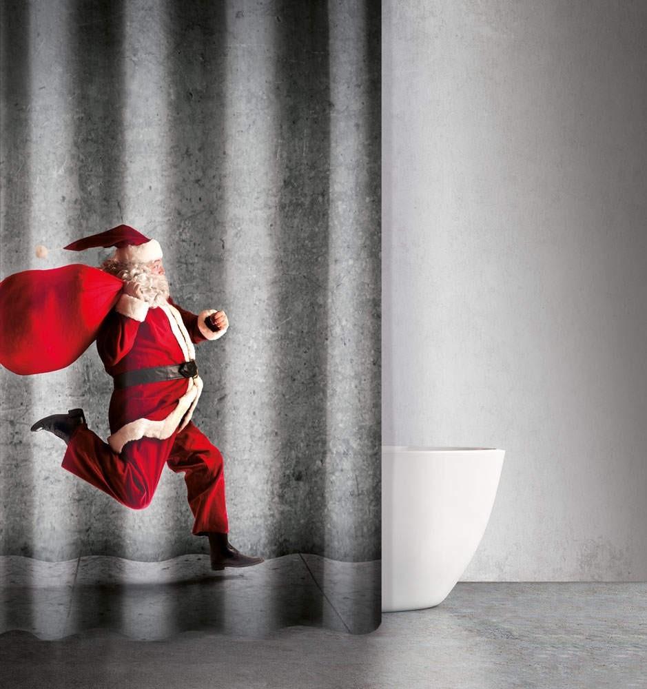 Χριστουγγενιάτικη Κουρτίνα Μπάνιου 180x200 Saint Clair Des 406