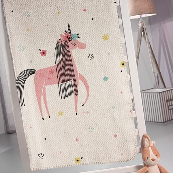 ΚΟΥΒΕΡΤΑ FLEECE MONH 160x220 SAINT CLAIR UNICORN