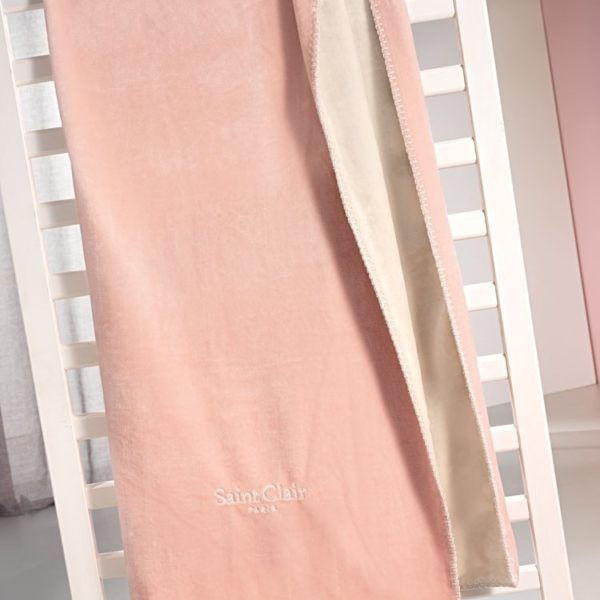 ΚΟΥΒΕΡΤΑ FLEECE MONH 160x220 SAINT CLAIR TRESOR PINK