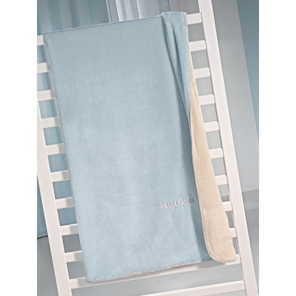 ΚΟΥΒΕΡΤΑ FLEECE MONH 160x220 SAINT CLAIR TRESOR BLUE