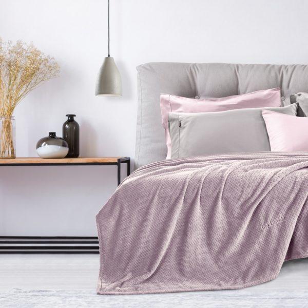 Κουβέρτα Ulta Soft Υπέρδιπλη Guy Laroche Rombus Lilac