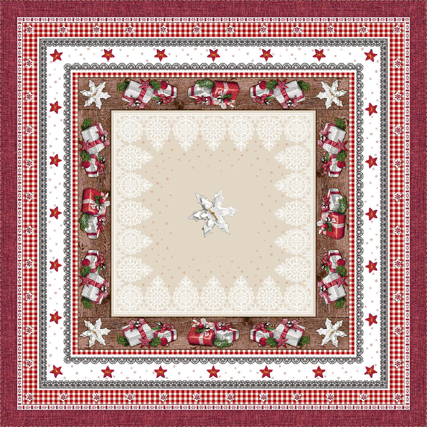Χριστουγεννιάτικο Τραπεζομάντηλο 140x140 Cosmin Andrea Lurex