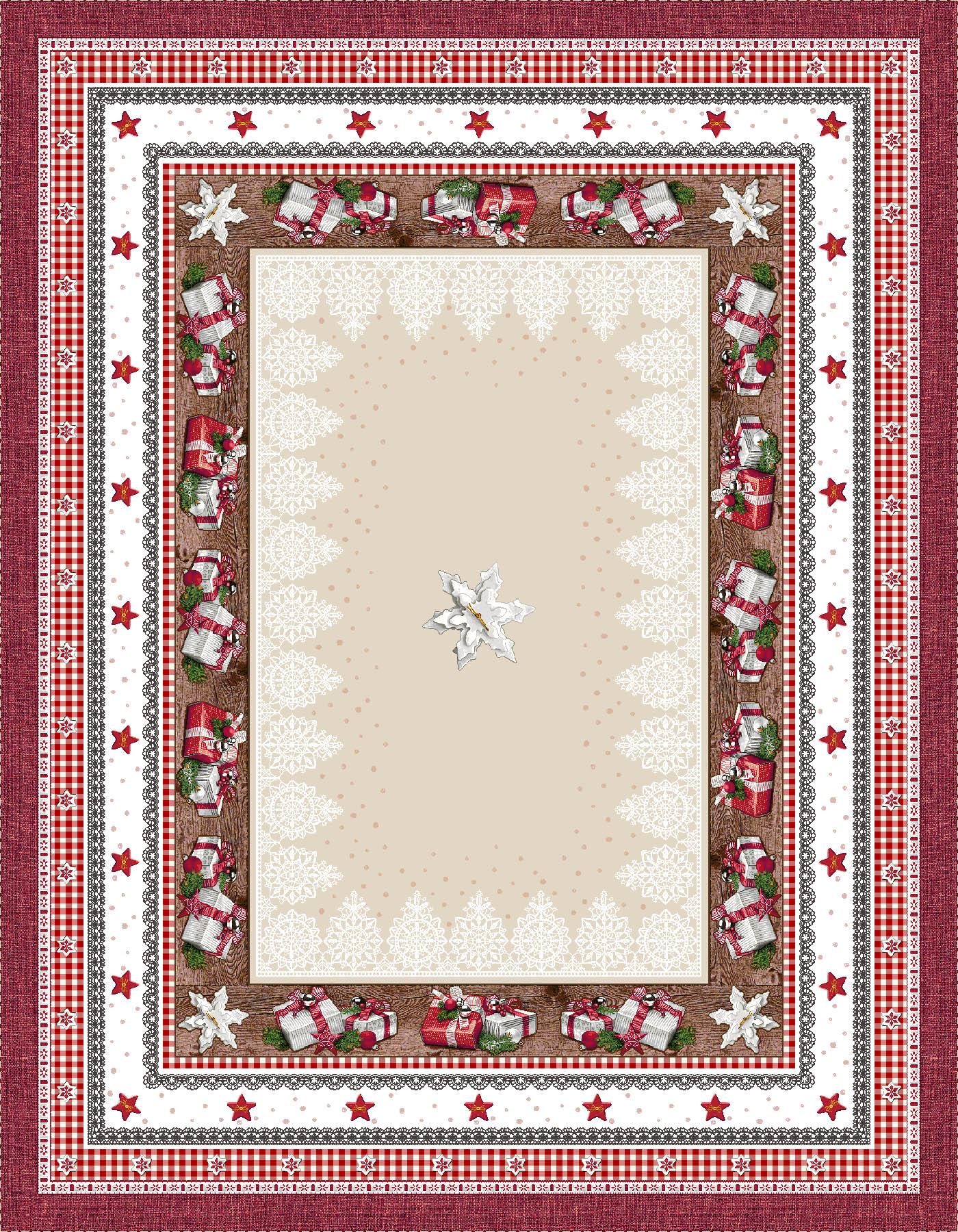 Χριστουγεννιάτικο Τραπεζομάντηλο 140x180 Cosmin Andrea Lurex
