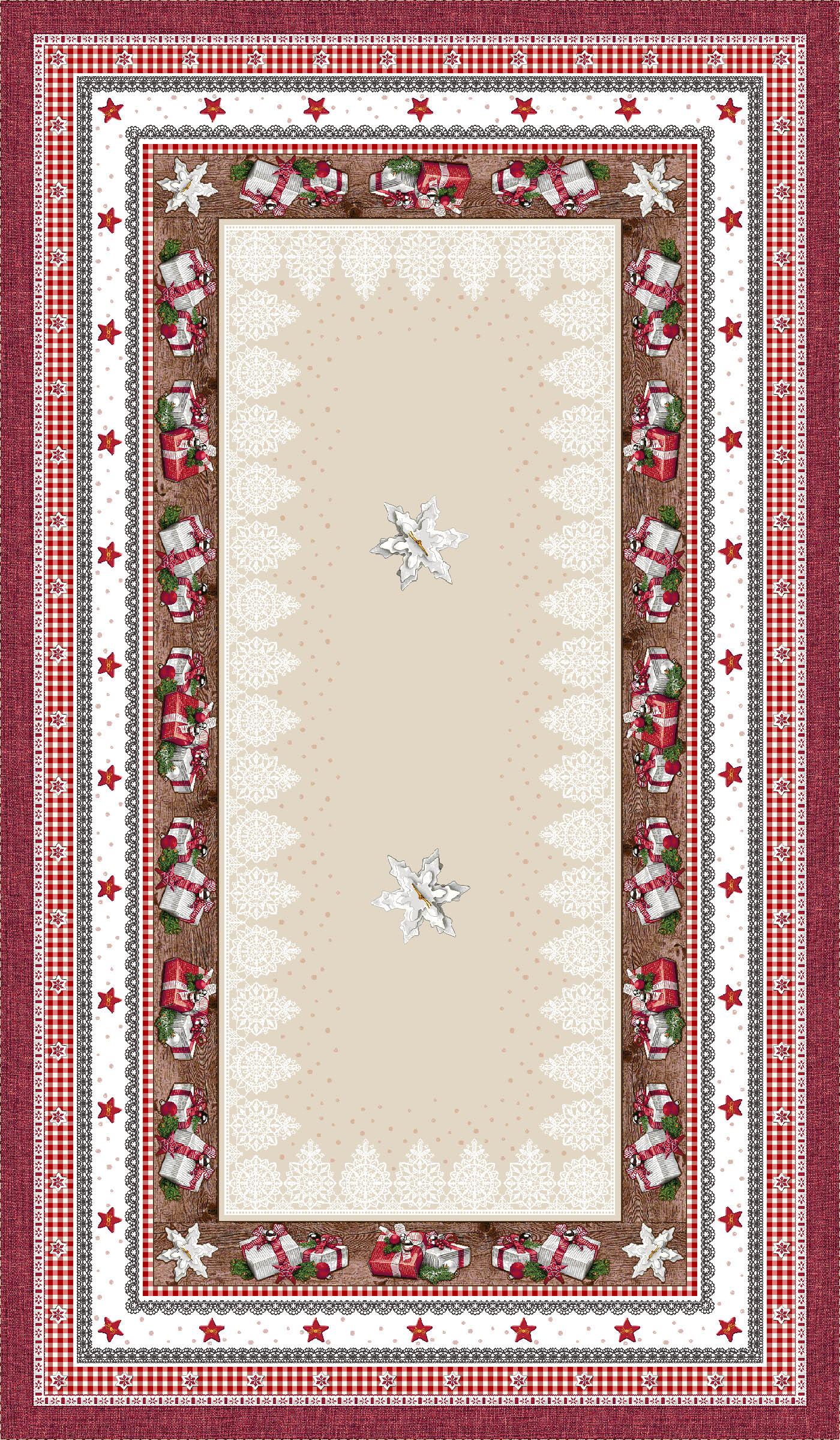 Χριστουγεννιάτικο Τραπεζομάντηλο 140x240 Cosmin Andrea Lurex