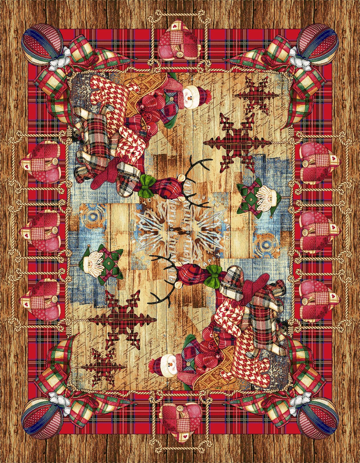 Χριστουγεννιάτικο Τραπεζομάντηλο 140x260 Cosmin Country Natale