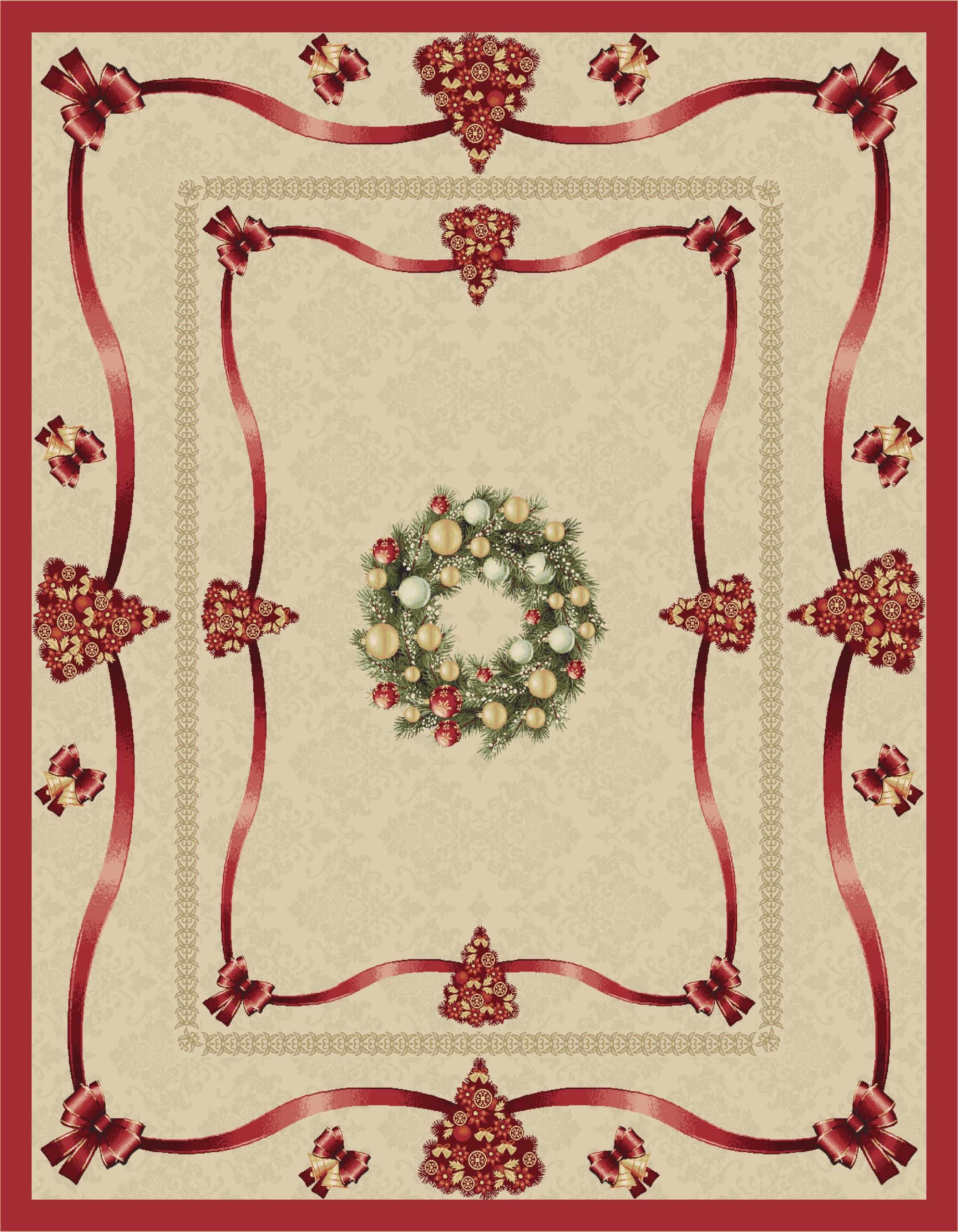 Χριστουγεννιάτικο Τραπεζομάντηλο 140x180 Vassiliadis Feliciti Oro
