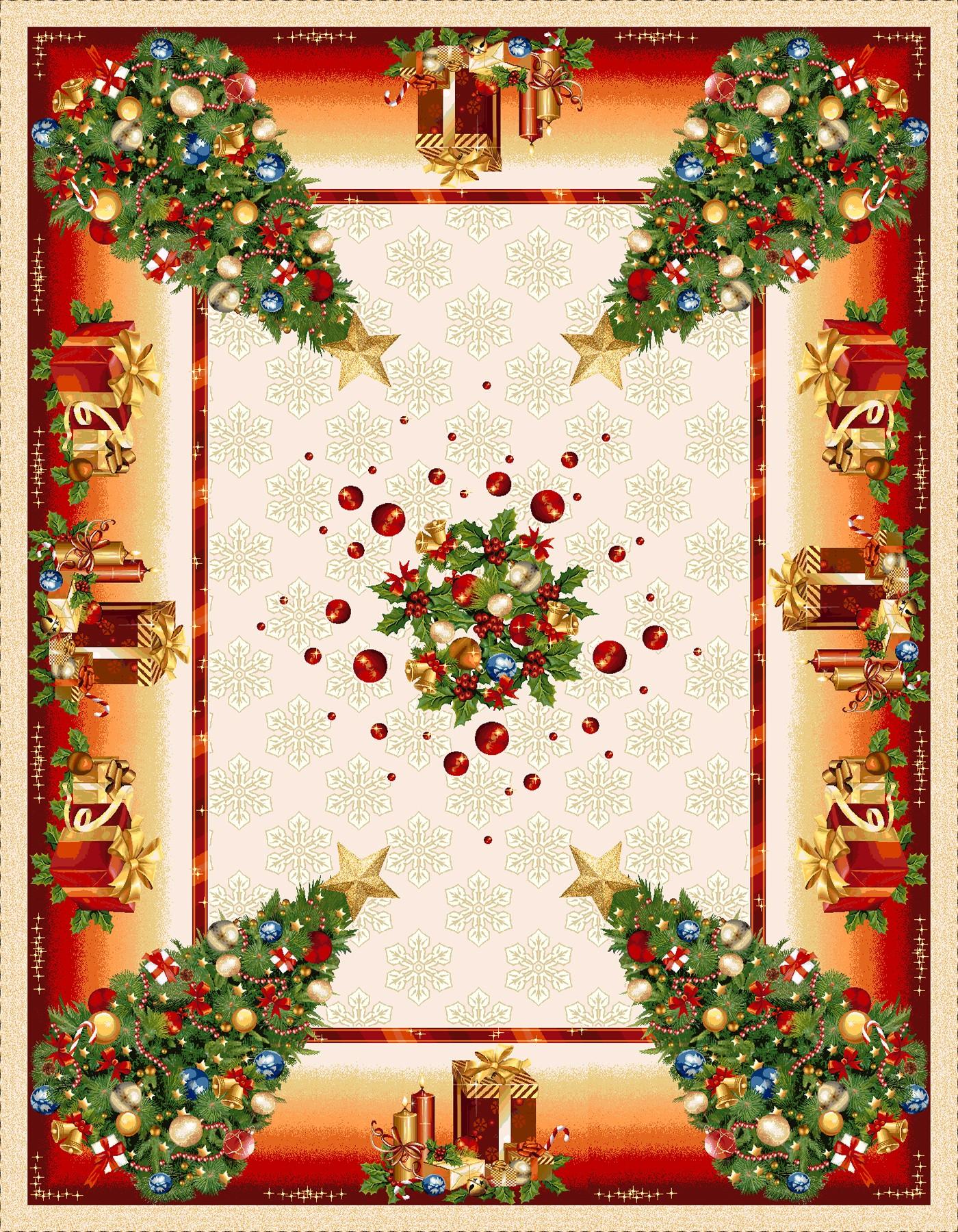 Χριστουγεννιάτικο Τραπεζομάντηλο 140x260 Cosmin Glam Lurex