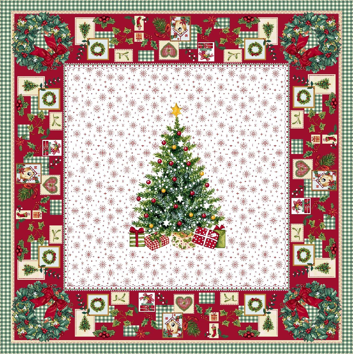 Χριστουγεννιάτικο Τραπεζομάντηλο 140x140 Vassiliadis Ilusione Lurex