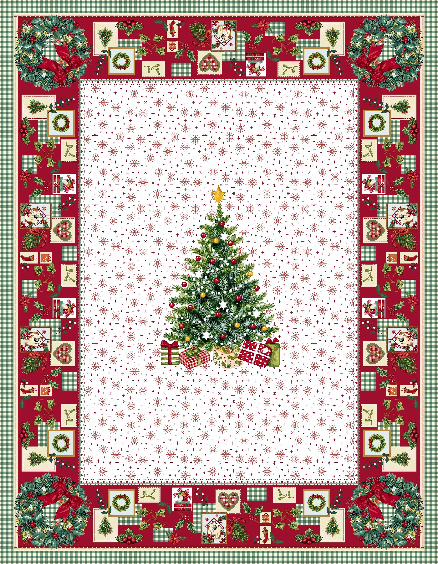 Χριστουγεννιάτικο Τραπεζομάντηλο 140x180 Vassiliadis Ilusione Lurex