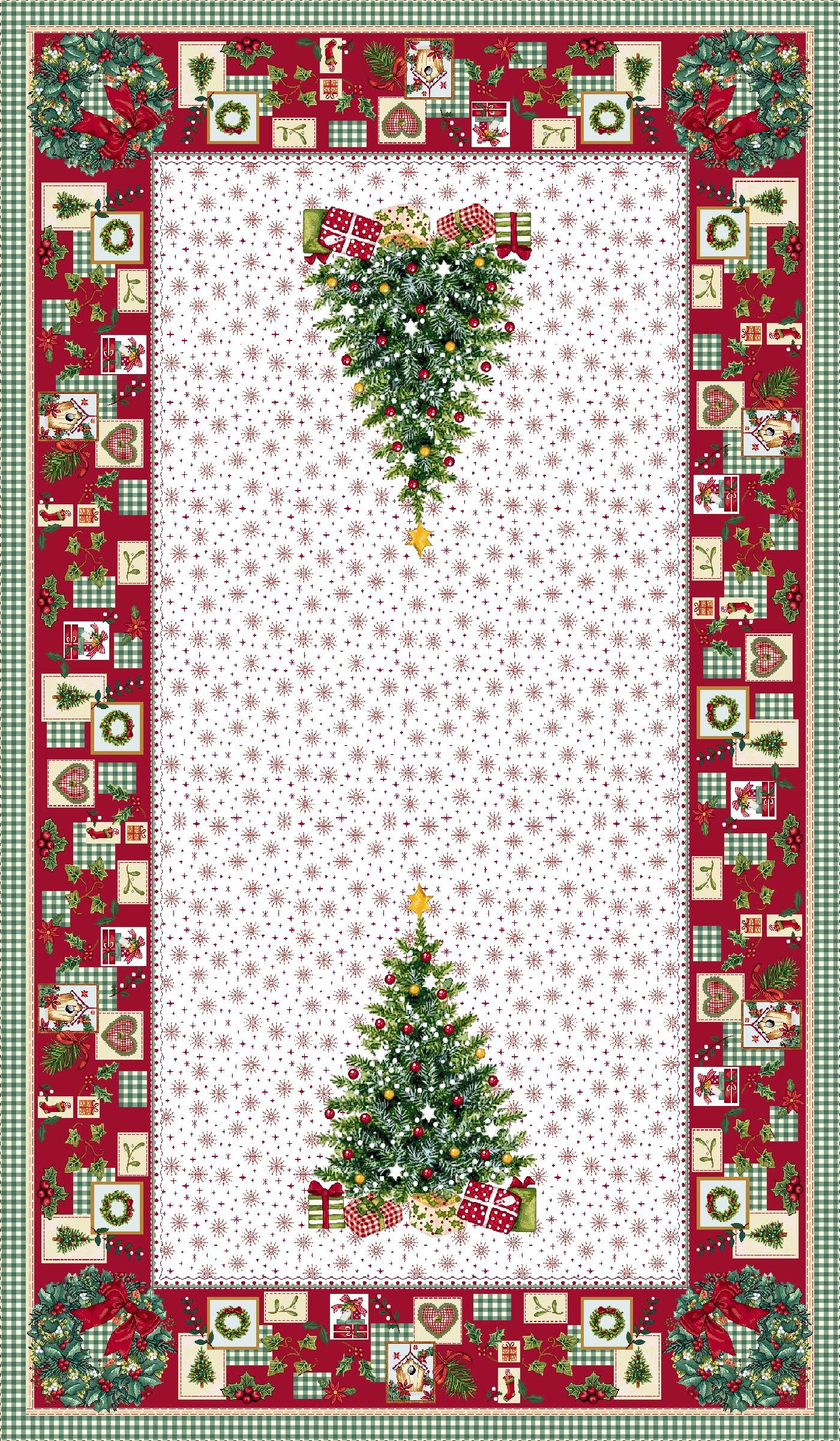 Χριστουγεννιάτικο Τραπεζομάντηλο 140x240 Cosmin Ilusione Lurex