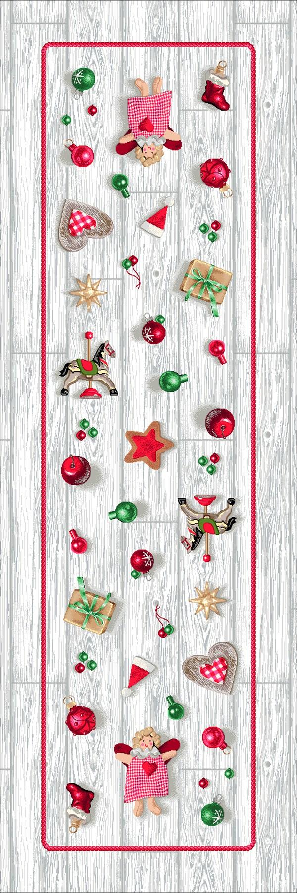 Χριστουγεννιάτικο Runner 47x140 Vassiliadis Joy Silver 236