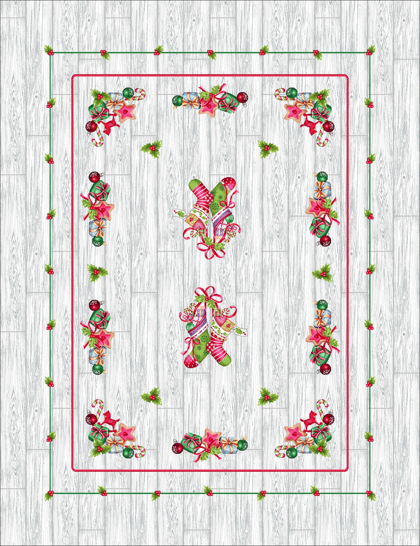 Χριστουγεννιάτικο Τραπεζομάντηλο 140x180 Cosmin Joy Silver 237