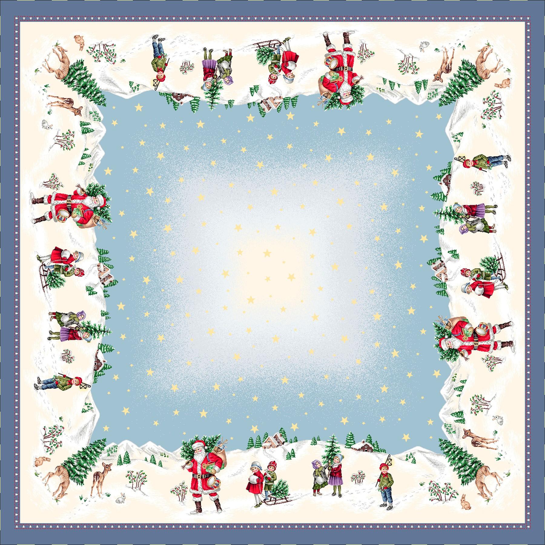 Χριστουγεννιάτικο Καρέ 100x100 Cosmin Joy Silver 246
