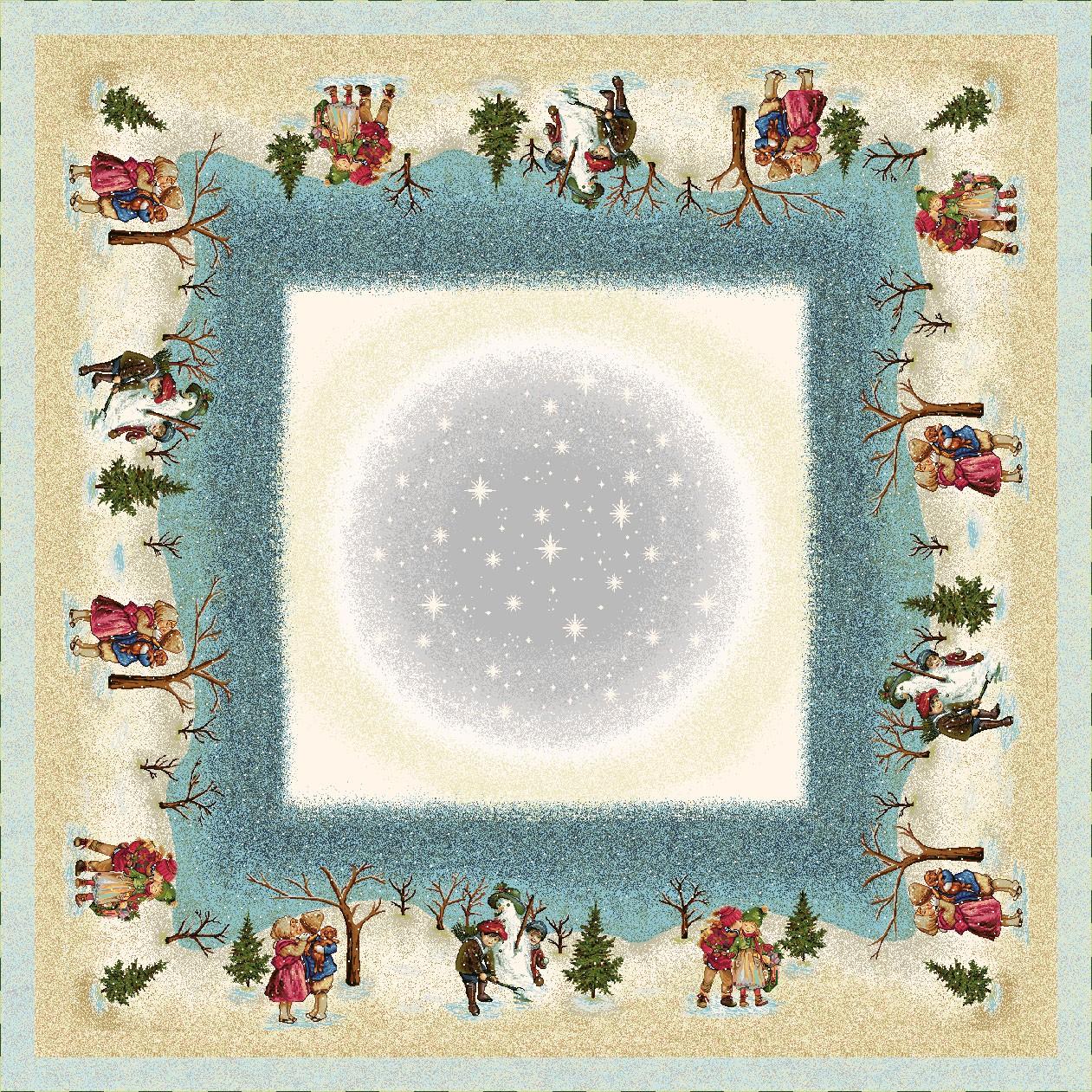 Χριστουγεννιάτικο Τραπεζομάντηλο 140x140 Vassiliadis Valen Kiss