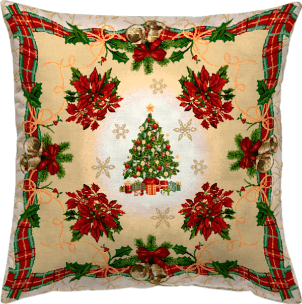 Χριστουγεννιάτικη Μαξιλαροθήκη 45x45 Vassiliadis Party Lurex