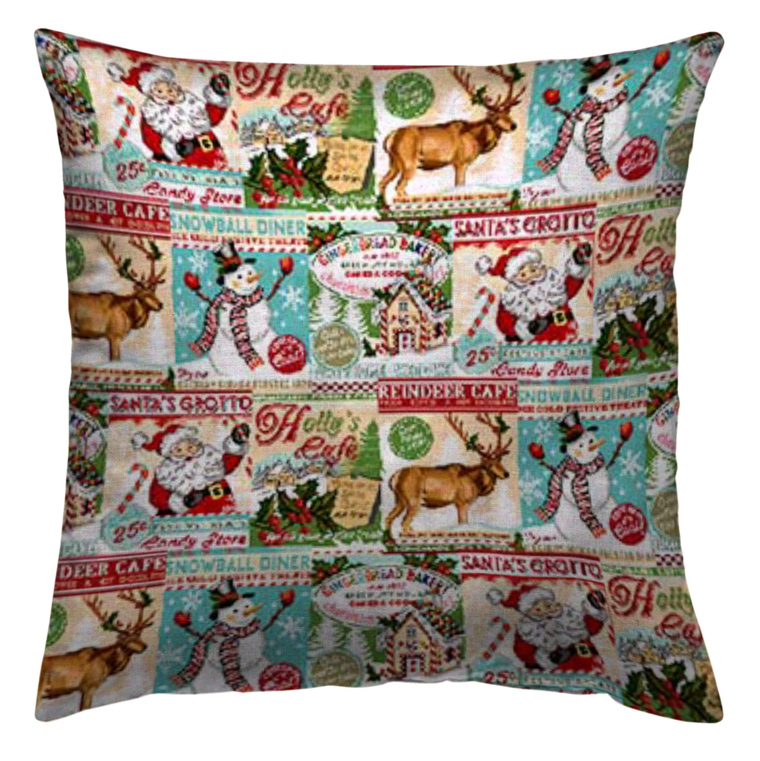 Χριστουγεννιάτικη Μαξιλαροθήκη 45x45 Vassiliadis Reindeer